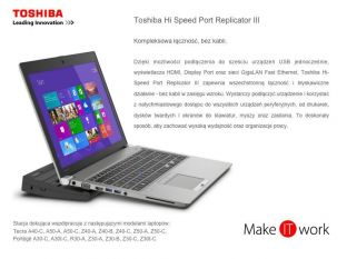 Promocja !!! Toshiba Hi-Speed Port Replicator III 120W PA5116E-2PRP